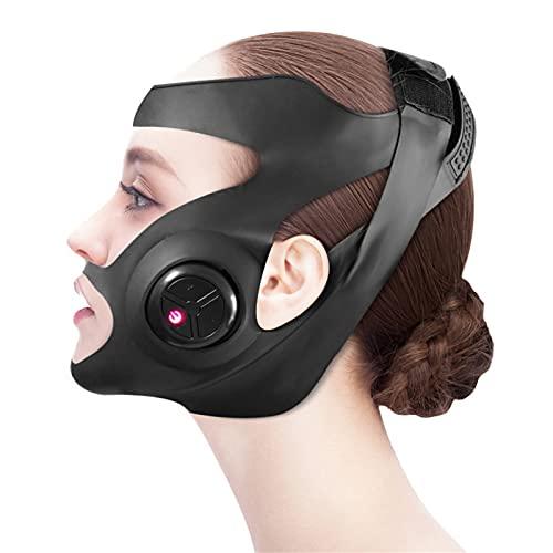 Vendaje de levantamiento de cara, correa para adelgazar faciales, máscara de adelgazamiento facial, fábrica de la cara de la cara de la barbilla con la cara de la ca black