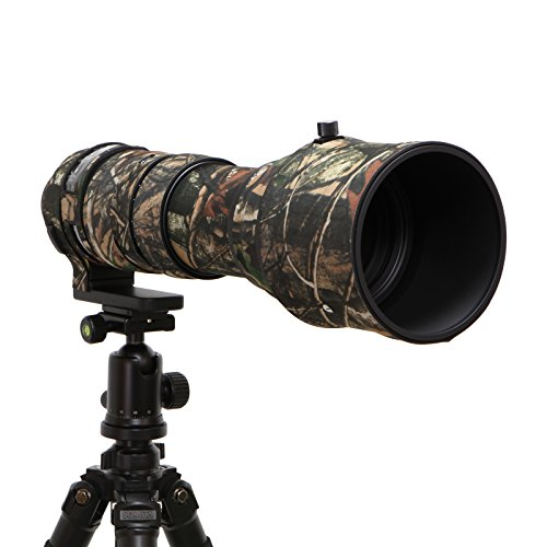 Mekingstudio Sigma 150-600mm Sport Rubber Camera Lens Cover Protective Cover Camo Rain Cover - Forest Green Camo