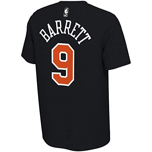 NBA Youth 8-20 Black Dri Fit Cotton Dark Icon Player Name & Number T-Shirt (Youth - X-Large, RJ Barrett New York Knicks)