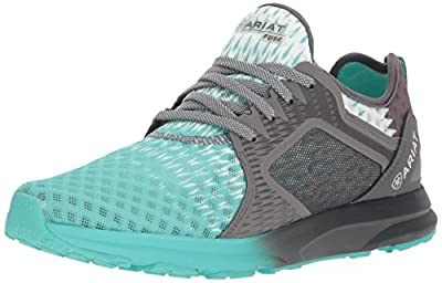 Ariat Women's Fuse Athletic Shoe, Turquoise Gray Ombre Mesh, 6.5 B US
