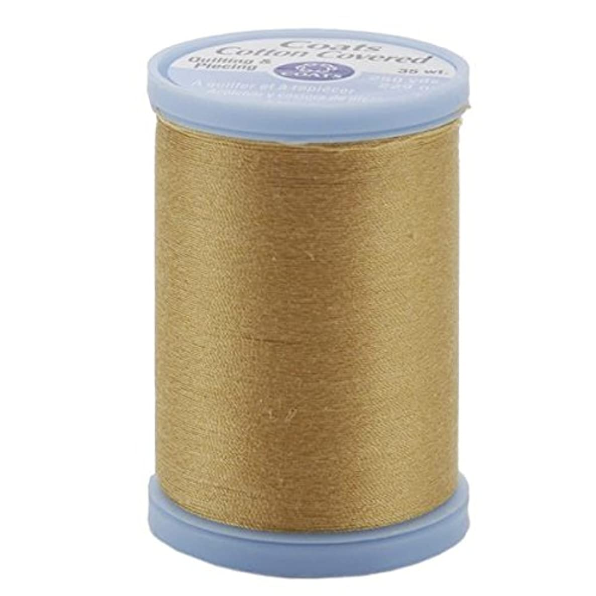 Coats: Thread & Zippers Cotton Covered Quilting and Piecing Thread, 250-Yard, Temple Gold