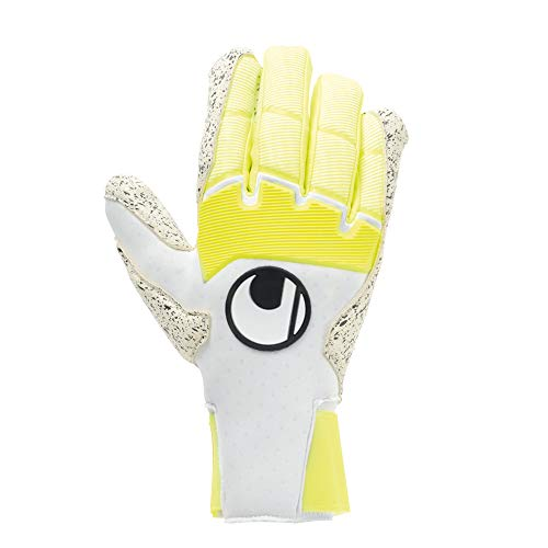 uhlsport Herren Pure Alliance Supergrip+ Hn Handschuhe Torwarthandschuhe, weiß/Fluo gelb/Schwarz, 9