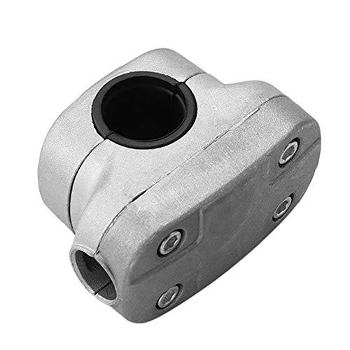 Soporte de agarre con pinza de soporte de fijación, pinza de flecha para árbol gris universal fuerte y resistente, con aluminio para tubo de desbrozadora