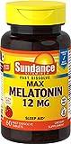 Sundance 12 Mg Melatonin Tablets, 60 Count,Multicolor