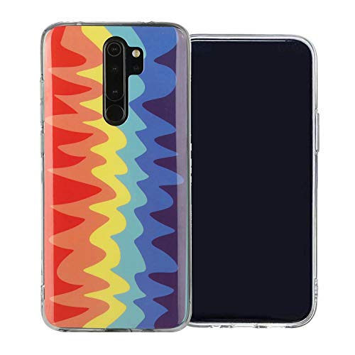 Miagon Colorful LGBT Gay Art Rainbow Case for OPPO A9 2020,Soft Slim Light-wight Protective TPU Bumper Cover Plastic Flexi Silicone Gel Case,Wave
