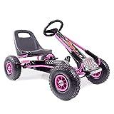 Kinder Go-Kart Racing Car Full Speed Pink Cart Tretauto Gokart ab 3 Jahren Luftreifen