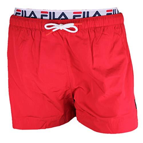 Fila Badehose Herren RYOTA Swim Shorts 687742 006 True Red Rot, Größe:XXL