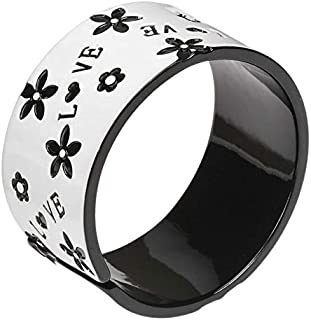 White Resin Bangle with Love Motif