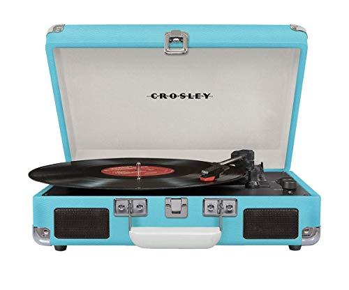 Crosley Cruiser Deluxe Tragbarer Bluetooth Plattenspieler im Retro Design, Türkis