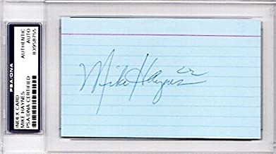 Mike Haynes Autographed Signed New England Patriots - Los Angeles Raiders 3x5 inch Index Card - Pro and College Hall of Fame - PSA/DNA Authenticity (COA) - PSA Slabbed Holder