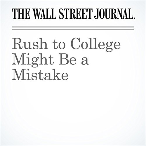 Rush to College Might Be a Mistake copertina