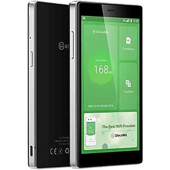 【公式販売】GlocalMe G4 Pro モバイルWiFiルーター SIMフリー 1.1ギガ分のグローバルデータパック付け ポケットWiFi世界140国・地区以上対応 3900mAh充電バッテリー搭載 軽量・薄型で持ち歩き便利 (Black)