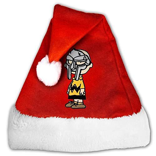 Kenice Nios Y Adultos Gorro De Felpa Santa,Navideo Gorras,Sombreros De La Navidad,Gorro De Navidad,Sombreros para Adultos,Sombreros De Fiesta,Charlie Brown MF Doom M