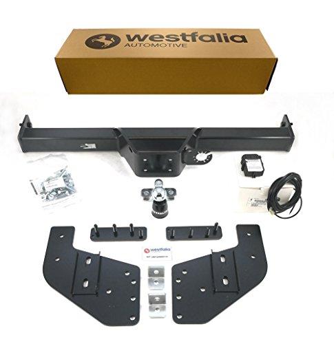 Westfalia starre Anhängerkupplung (Anhängebock 2-Loch) für L200 (BJ ab 07/15), Fullback Double Cab (BJ ab 06/16) im Set mit 13-pol. fzg.-spez. Westfalia Elektrosatz
