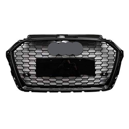 Auto Front Honeycomb Grill Grille Voor Audi A3 2017-2020 A3 verbeterde RS3 Front Grille Front Bumper Grill,B