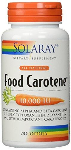 Solaray Food Carotene All Natural 10,000 LU Softgels | 200 Count