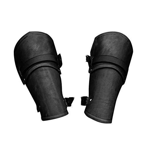 Kitabetty Lederarmband Armschiene, Manschette Schnalle Punk Gothic Cosplay Mittelalter Kostüm Armband Schutzausrüstung Arm Rüstung
