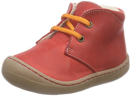 Pololo Unisex-Kinder Juan Wollfleece-Futter Bootsschuhe, Rot, 21 EU