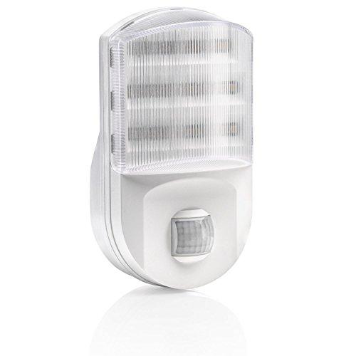Auraglow PIR-Bewegungssensor Euro Stecker Superhelles LED-Nachtlicht Sicherheitslicht Wohnhilfe