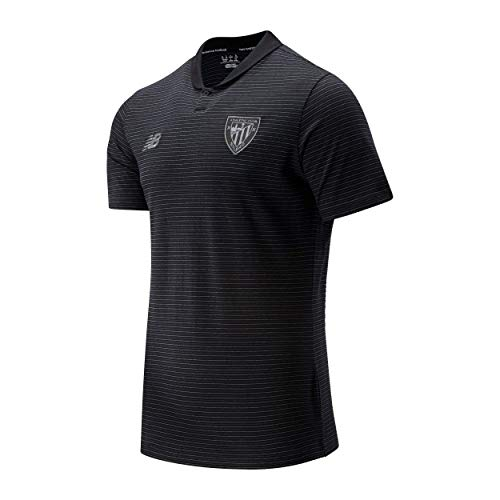 New Balance Athletic Club Polo Travel Viaje Hombre ACB, Negro, L