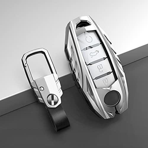 SAXTZDS Cubierta de la Caja de la Llave del Coche, Apta para Nissan Rogue XTrail T32 T31 Qashqai J11 J10 Kicks Tiida Pathfinder Murano Juke Versa