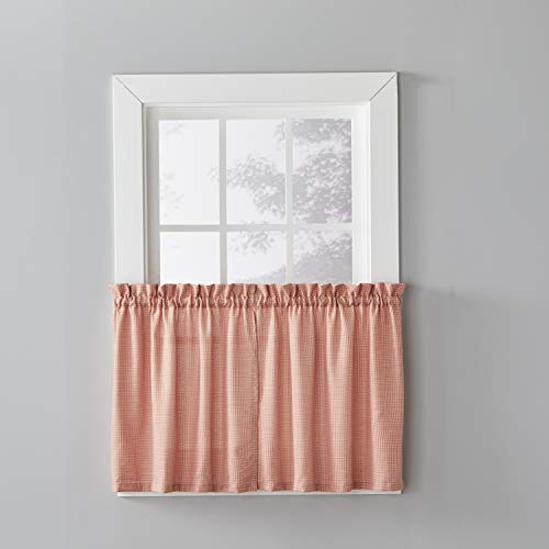 SKL HOME by Saturday Knight Ltd. Nelson Curtain Tier, 57 inches x 24 inches, Rust