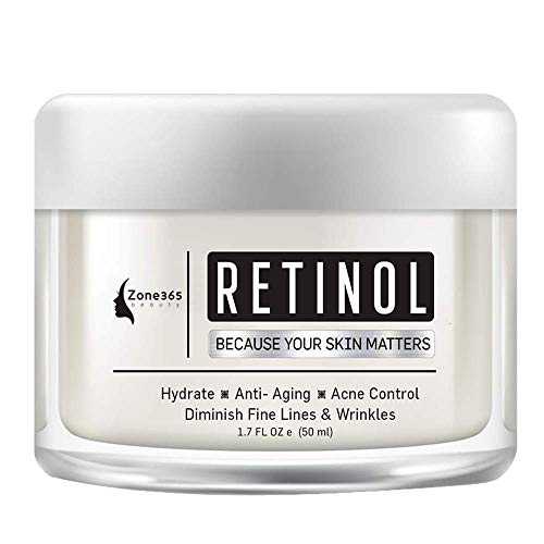Retinol Moisturizing Facial Cream, Anti Aging Cream, Effective Formula Nourishing Ingredients Reduces Fine Lines and Acne Scars Promotes Healthy and Younger Looking Skin
