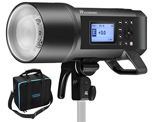 AD600 Flashpoint XPLOR 600 HSS Battery-Powered Monolight with Built-in R2 2.4GHz Radio Remote System 20 Bowens Mount + Glow EZ Lock Deep Parabolic Quick Softbox
