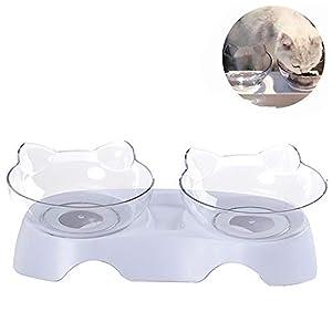 SDXZ Recipiente ortopédico para Mascotas Anti-vómitos, recipientes para Gatos, comedero para Gatos Recipiente de alimentación para Gatos Elevado con Soporte, Antideslizante y antiderrame (Single) 4
