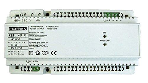 Fermax 4810 - Alimentador 12vac-1,5a/18vdc-1,5a din10