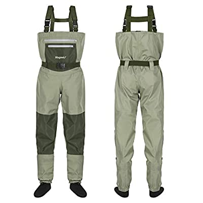 Magreel Chest Waders Breathable Fishing & Hunting Waders with Neoprene Stocking Foot for Men and Women