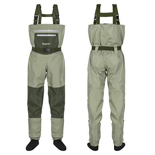Magreel Vadeadores de Pesca con Calcetines Impermeables para Pescar Caza Waders Transpirables Ropa Pantalones para Pescador Hombre Mujer, Material Seguro Duradero Cómodo (Talla M)
