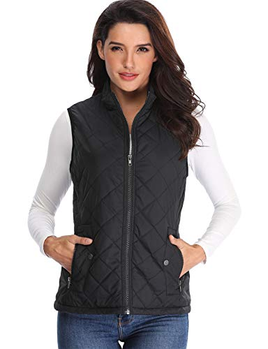 MISS MOLY Chaquetas Mujer Pelo Negro Puffer Chalecos