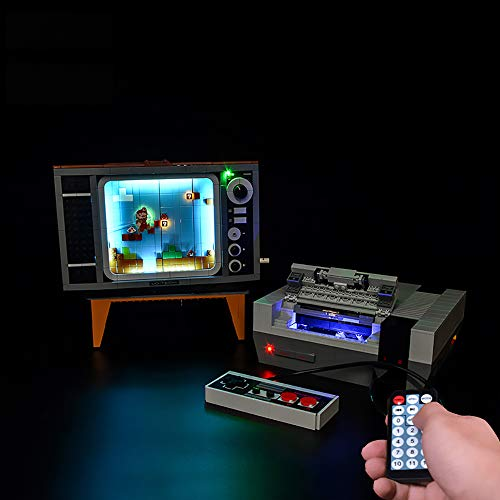 LODIY Beleuchtung Licht Set Fernbedienung für Lego 71374 Nintendo Entertainment System, LED Beleuchtung für Lego 71374 (Nicht Enthalten Lego Modell) (Mit Sound Fernbedienung)