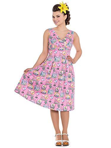 Hell Bunny Vestido Maxine 50's Dress 4689 rosa XXL
