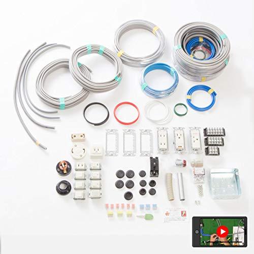 第二種電気工事士技能試験セット モズシリーズ プレミアム 動画解説付電線器具2の1(にのいち) 電線2回分と...