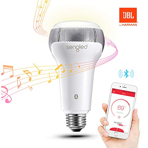 Sengled Pulse Solo Ampoule LED E27 avec Haut Parleur Bluetooth JBL, Ampoule LED Intelligente Contrôlée Via App, Equivalent 40W, Blanc Chaud 2700K, Fonctionner avec Amazon Alexa