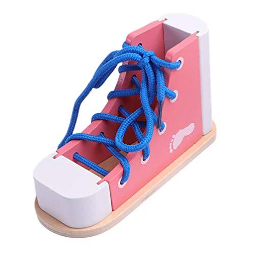 NUOBESTY Brinquedos educativos Montessori para crianças, rosa