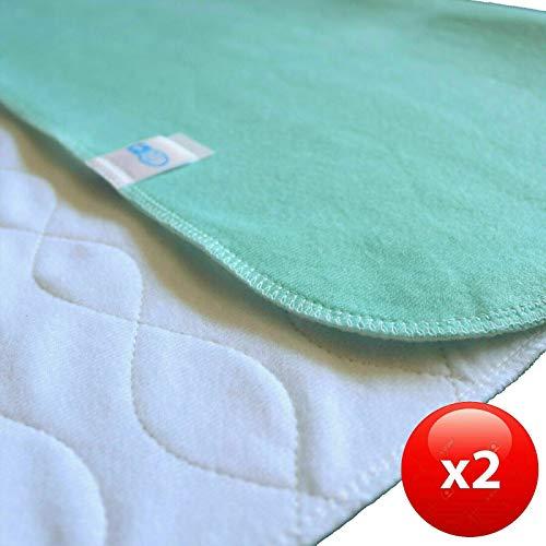 TODA 2er Pack Matratzenauflage, Inkontinenzauflage, wasserdicht, waschbar - Saugvlies, Inkontinenzunterlage Verschiedene Größen (75 x 80 cm)