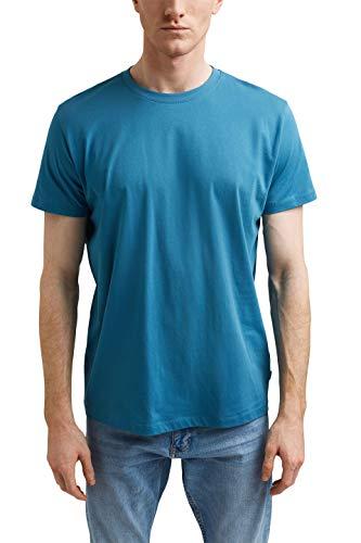 ESPRIT Herren 021EE2K311 T-Shirt, 451/PETROL Blue 2, XL