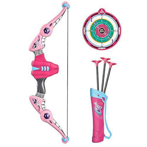Searchyou - Pfeil und Bogen Set Kinder Bogenschießset zum Leuchten bringen Schießen Spielzeug Schießspiele mit Bogen, Pfeil und Zielscheibe