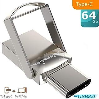 comprar comparacion SEMIN Key USB 3.0 2-en-1 64 GB Tipo-C OTG USB3.0 para teléfono y PC Tipo Mini Unidad Flash de Metal Tipo C (64 Go)