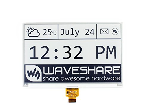 Waveshare 7.5 Inch E-Paper Raw Display Panel 800x480 Resolution 3.3V E-Ink Electronic Paper Screen Without PCB with Embedded Controller,Communicating via SPI Interface
