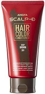アンファー (ANGFA) スカルプD ヘアカラーコンディショナー ディープブラウン 男性用 白髪染め 150g 豆乳発酵液