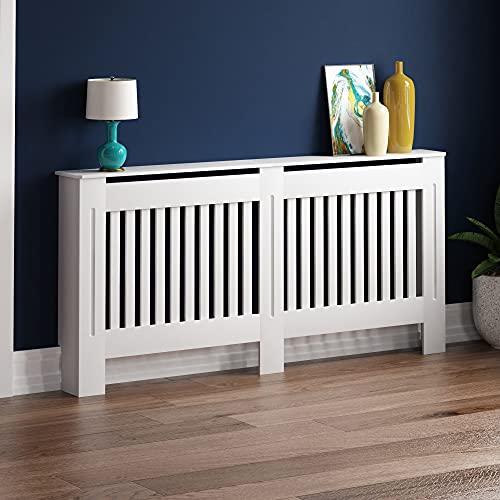 Vida Designs Chelsea-Rejilla para radiador, diseño de Listones, Color Blanco, White, X-Large