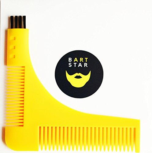 Bartschablone Bartkamm Rasierschablone Bartvorlage Bartpflege Bartstyling Grooming Tool Bart Bartkit Geschenk