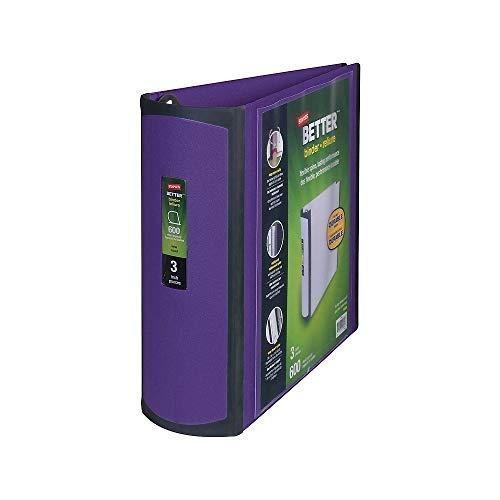 STAPLES 895621 Better 3-Inch Slant D 3-Ring View Binder Purple (20246)