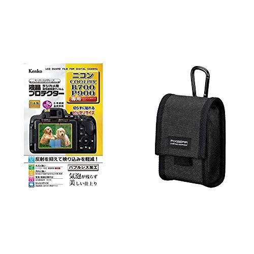 Kenko 液晶保護フィルム 液晶プロテクター Nikon COOLPIX B700/P900/P610用 KLP-NCPB700 & HAKUBA デジタルカメラケース ピクスギア タフ03 M ブラック SPG-TG03CCMBK 0.25L