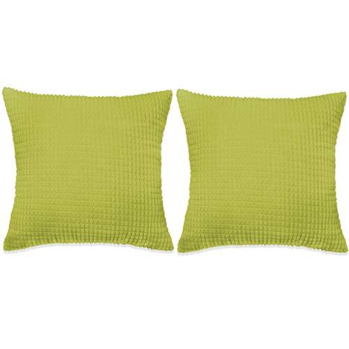 vidaXL Sierkussenset 60x60 cm Velours Groen 2-delig Sierkussen Set Kussentje