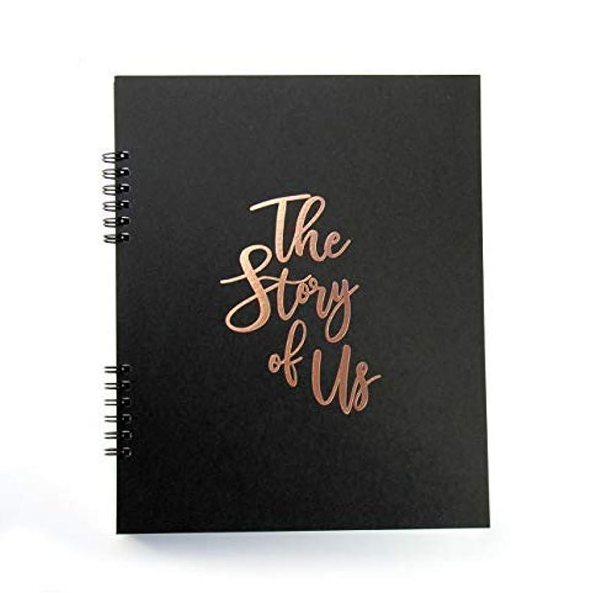 Story of Us Embossed Scrapbook Album for Couples. Wedding Scrapbook, Engagement Gift. Rose Gold Foil, Scrapbook for Couples, Marriage Journal, Couples Journal Wedding Keepsake, Anniversary Gift Black